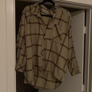 UO plaid button down shirt / flannel